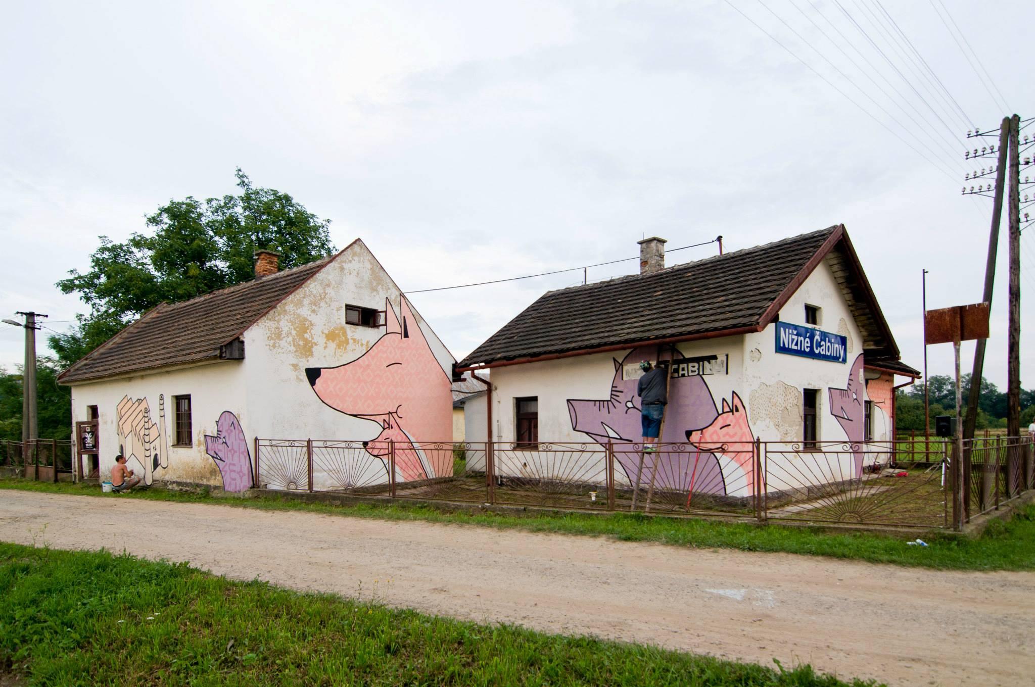 Cabiny, Pek Crew, street art