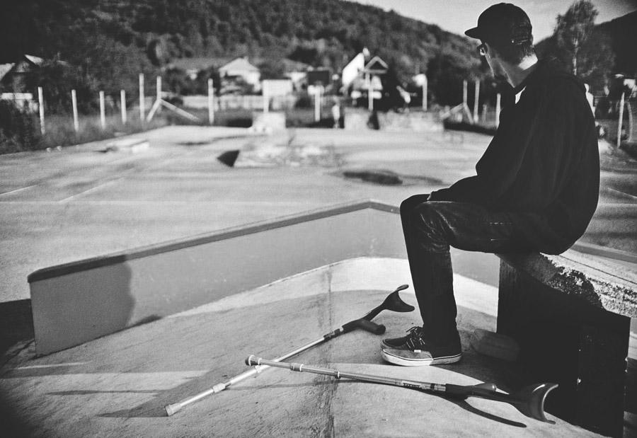 Pohľad na skate park