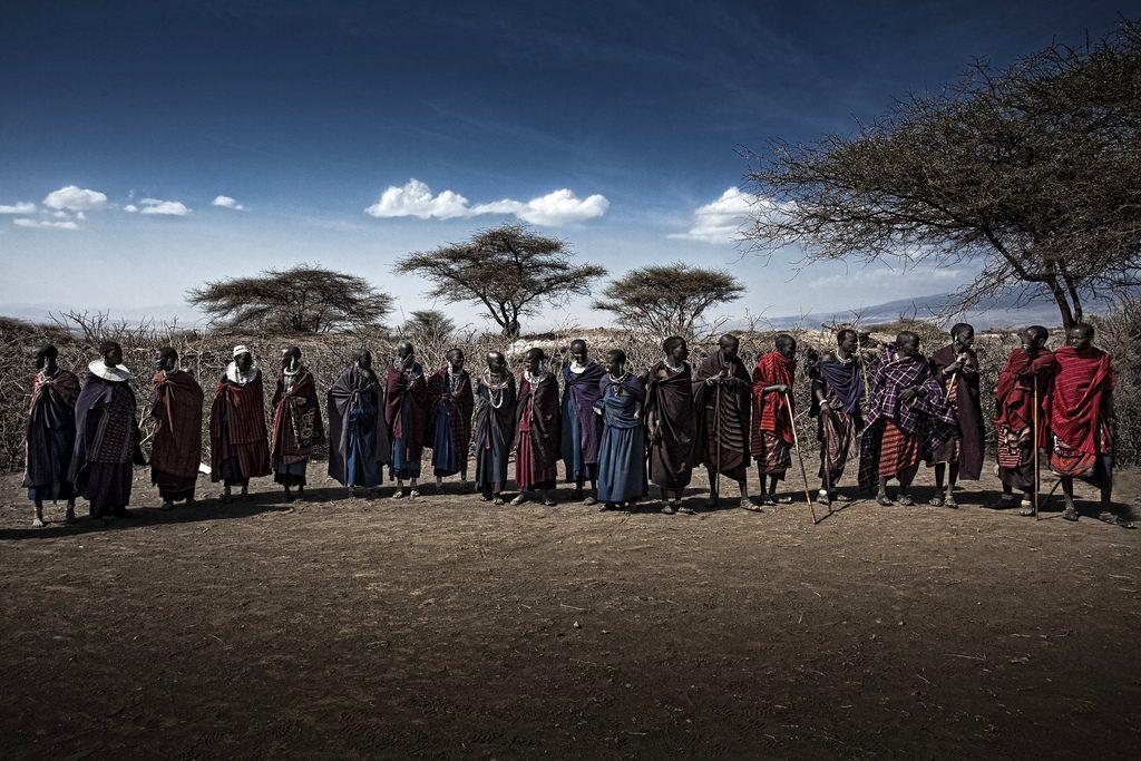 Kmeň Masajov Afrika