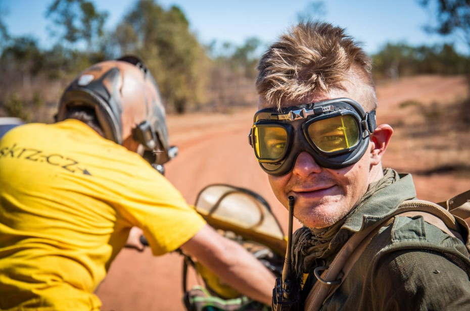 Trabant, motorka, Austrália, Ázia