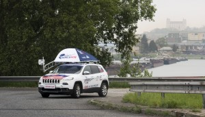 Wings For Life - Catcher Car on the bridge in Bratislava