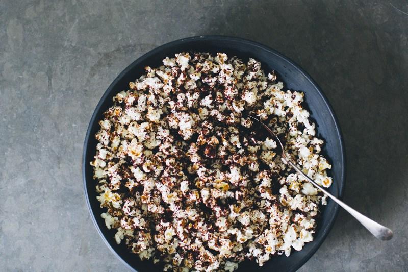 Čokoládový popcorn smorskou soľou