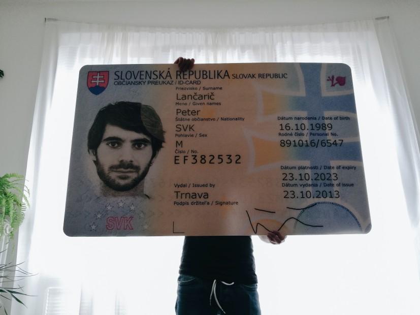 občiansky preukaz Petra Lančariča