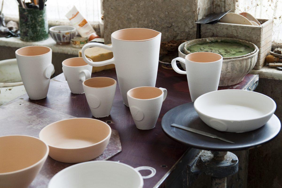 keramika pred po druhom vypale