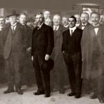 Laurin a_Klement, dvaja zakladatelia automobilového priemyslu vČeskoslovensku.