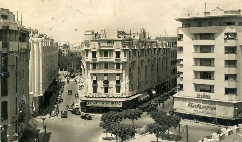 Značka NEHERA vMaroku vmeste Casablanca v40. rokoch minulého storočia.
