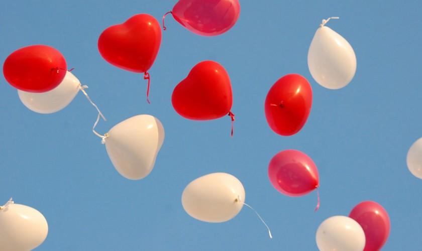 srdiečkové balóny