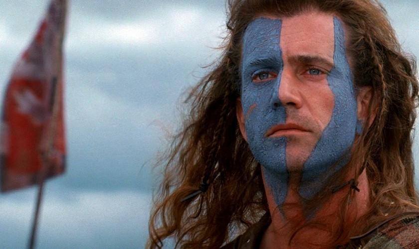 Mel Gibson vo filme Braveheart