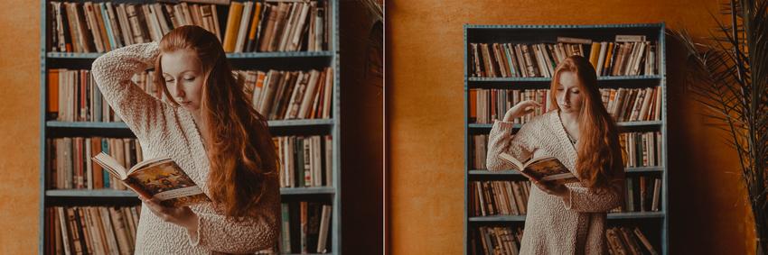 žena s knihami